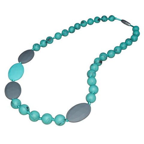 CLEARANCE - Aqua Marble Splash of Color Necklace