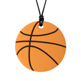 The Munchables Basketball Sports themed chewable pendant looks just like a basketball.
