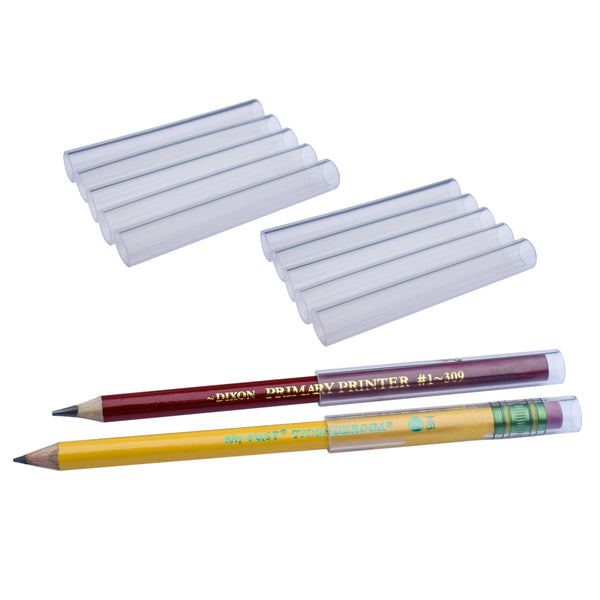 Beginner Size Chewable Pencil Topper Tubes fit on oversized, beginner pencils.