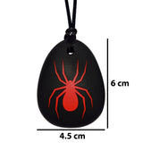 Munchables Spider Chew Necklace measures 6cm high by 4.5cm wide.