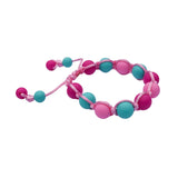 Adjustable Fuchsia/Aqua/Pink Bracelet