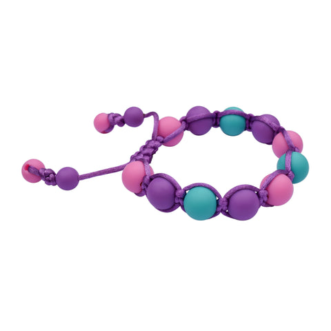 Adjustable Pink/Purple/Aqua Bracelet