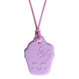 Munchables Cupcake Chew Necklace Reverse Side with Sensory Nubs and Lines for Added Interest