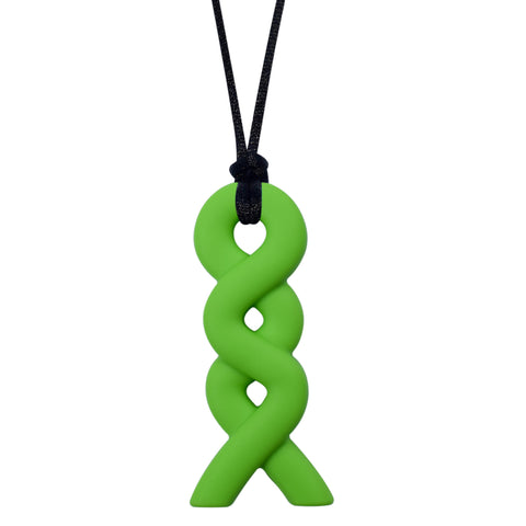 Munchables Infinity Chew Necklace in green.