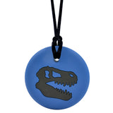 Munchables Dino Skull Chew Necklace in Black and Navy