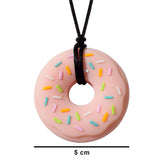 Munchables Donut Chew Necklaces measure 5cm in diameter.
