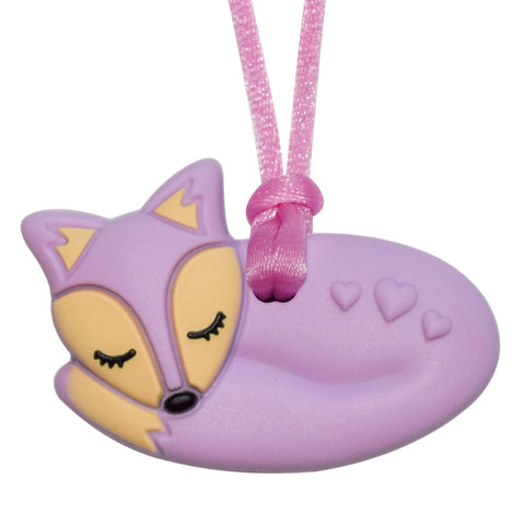Munchables Fox Chew Necklace in Purple