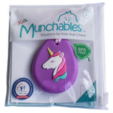The Munchables Unicorn Chew Necklace comes in a reuseable package for easy storage.
