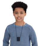 Munchables Navy/Black Rectangle Chew Necklace Worn by Teenage Boy