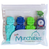 Munchables Chewable Pencil Toppers in reuseable pouch.