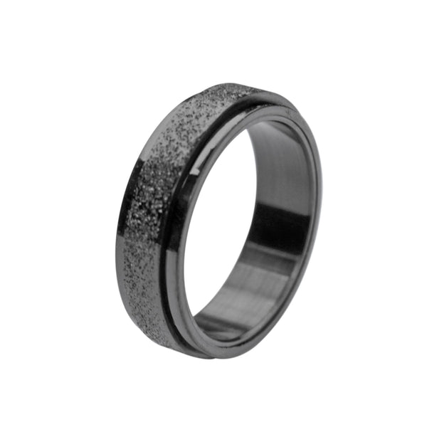 Black Fidget Spinner Ring