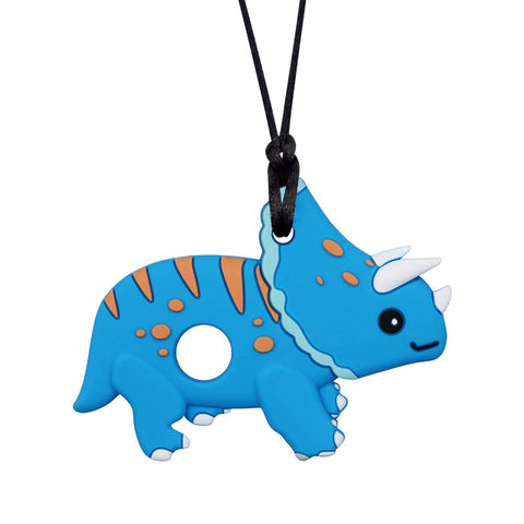 XL Triceratops Chew Necklace (Mild Chew)