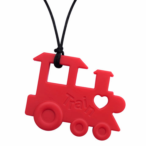 XL Red Train Chew Necklace