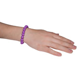 Munchables Purple Chew Bracelet on wrist.