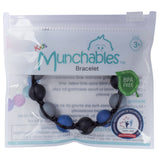 Munchables Adjustable Chew Bracelet in reclosable packaging.