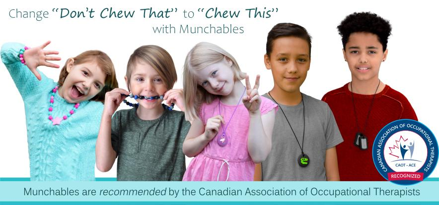 Munchables silicone chewelry and teething accessories