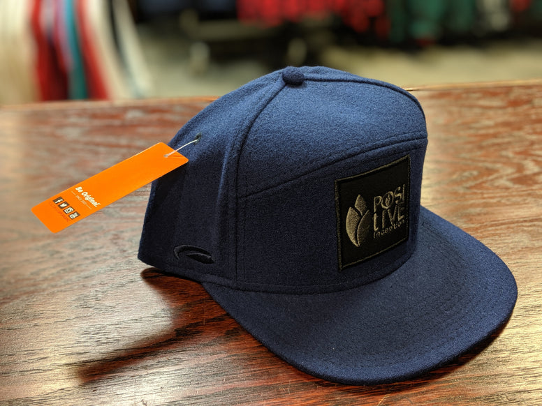 Navy Blue Positive Inception Snap Back Hat