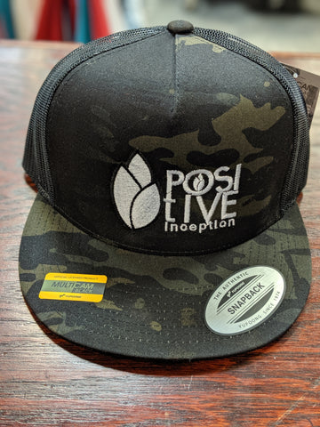 All Black - Camo Positive Inception Trucker Hat