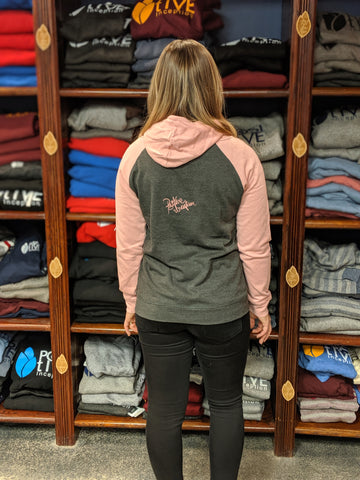 Women's Dark Heather and Pink Hoodie