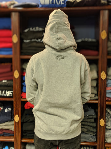 Heather Grey Positive Inception Hoodie with Black logo