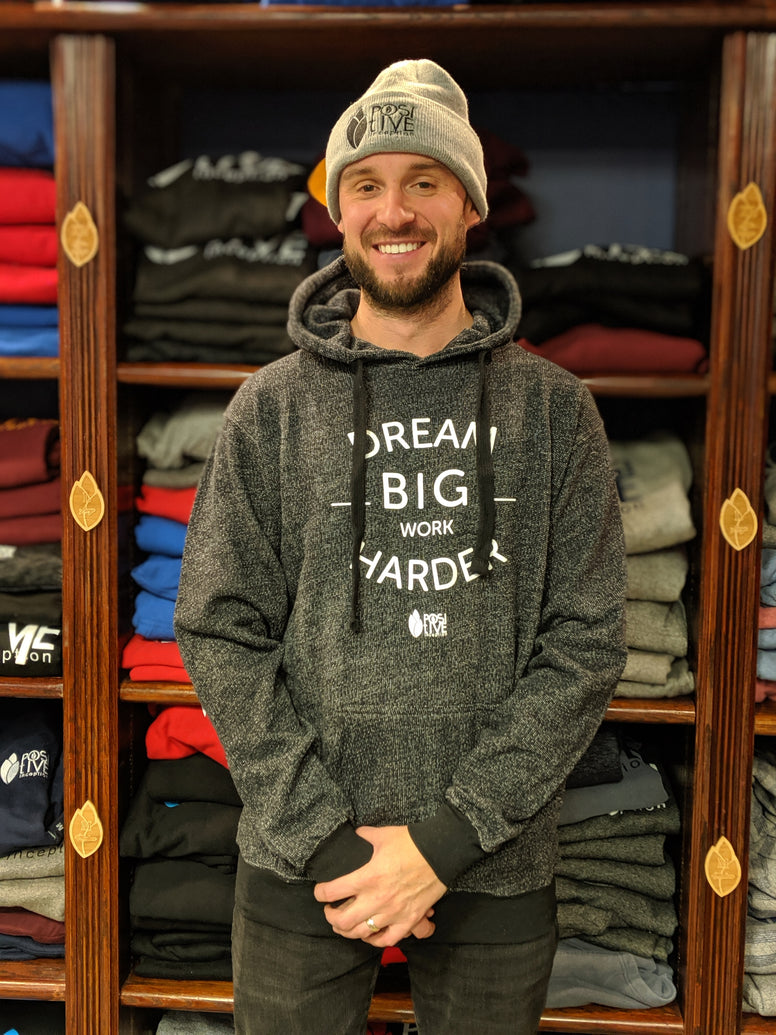 Dream Big, Work Harder Premium Black Heather Hoodie