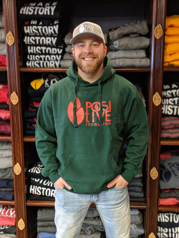 Forest Green and Red Positive Inception Unisex hoodie
