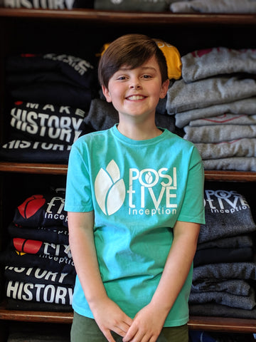 Youth Unisex Teal Positive Inception T-shirt