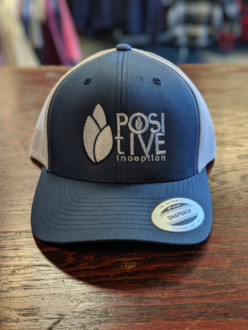 Positive Inception Navy Blue and Silver Hat