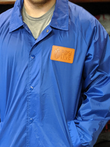 Button up Royal Blue Windbreaker Jacket