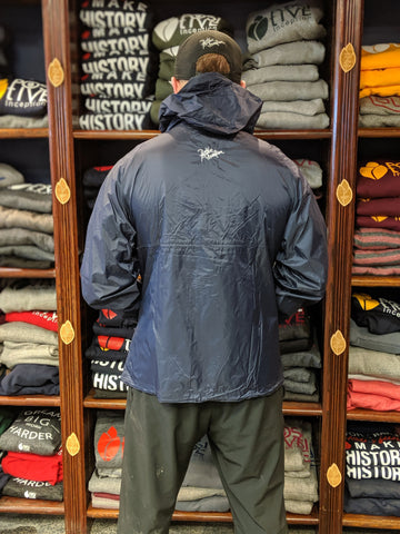 1/4 Zip Navy Blue Windbreaker Jacket