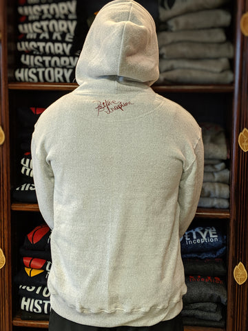 Nantucket White and Burgundy Positive Inception Hoodie