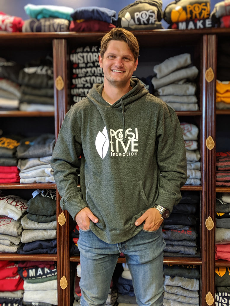Nantucket Charcoal Grey and White Positive Inception Hoodie
