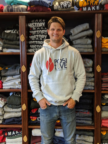 Nantucket White, Red and Navy Blue Positive Inception Hoodie