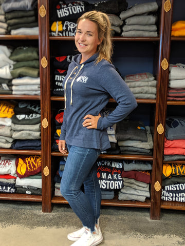 Women's Coast PI Navy Heather Hoodie