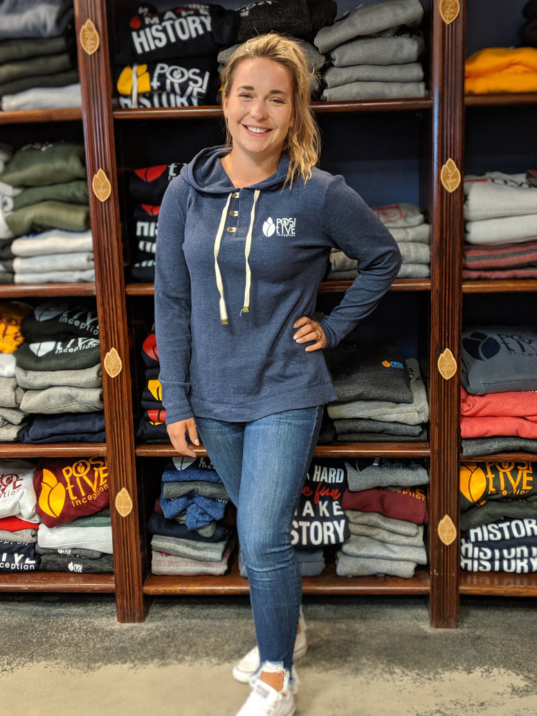 Women's Coat PI Navy Heather Hoodie
