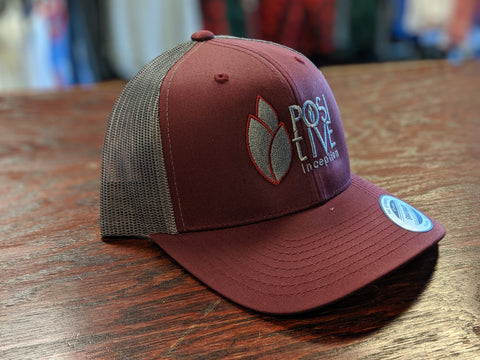 Positive Inception Burgundy and Charcoal Grey Hat