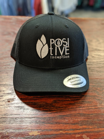 Positive Inception all black mesh hat