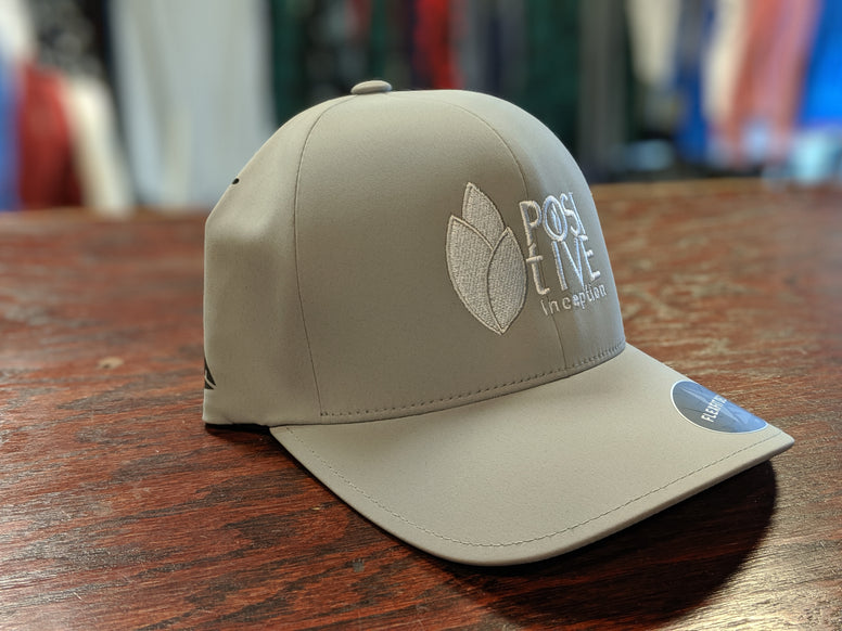 Silver Dry-fit Positive Inception Full Back Hat