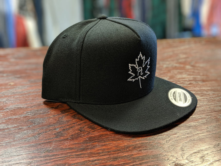 "Adult Black and White ""Leaf PI"" Classic Snapback hat"