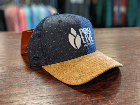 Cork Beak and Navy Blue Snap Back Hat
