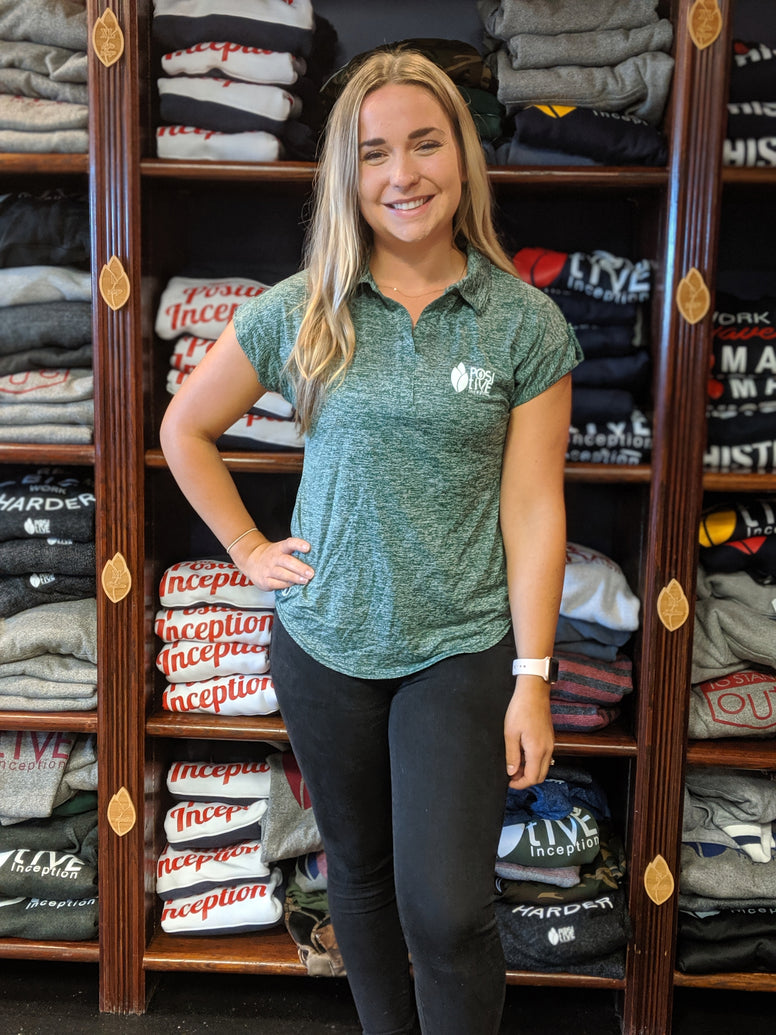 Women's Heather Forest Green Polo