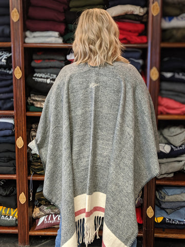 Grey Sock Monkey Poncho