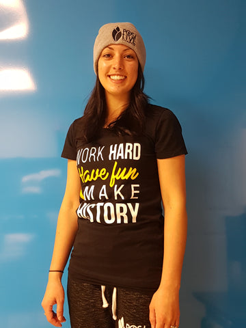 Work Hard, Have Fun, Make History Womens Black T-shirt
