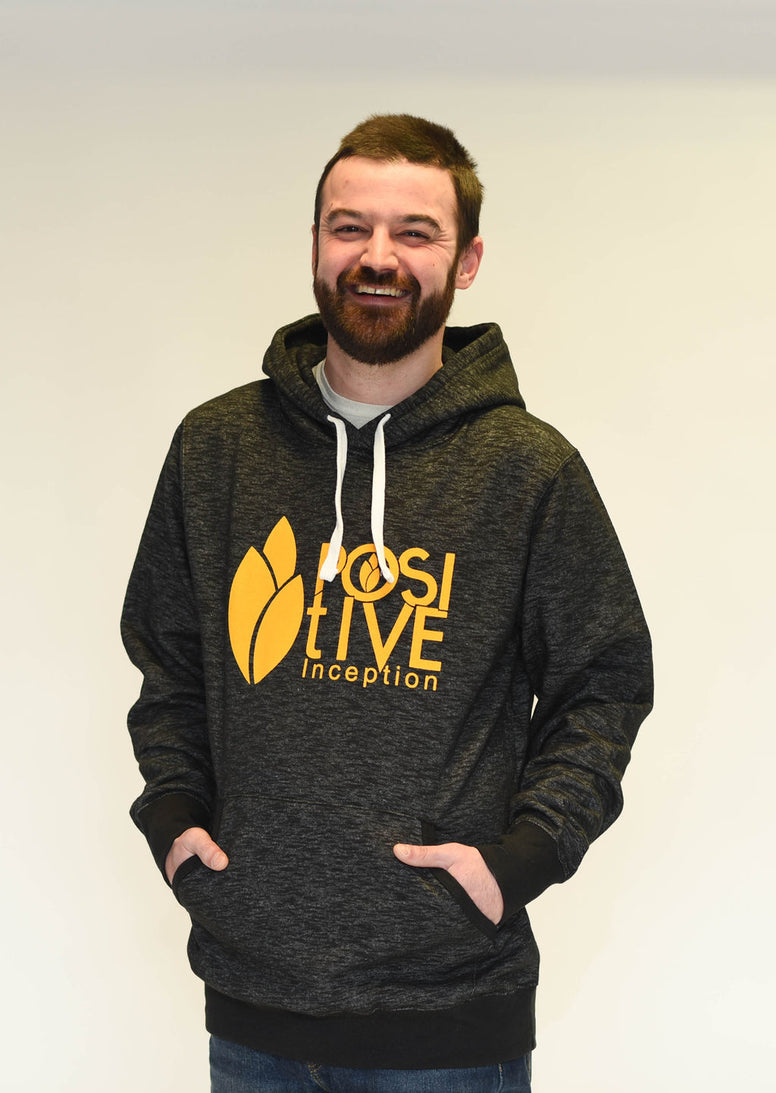 Heather Black and Yellow Positive Inception Hoodie