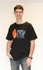 Mens Black, Orange and Royal Blue Long Fashion T-shirt