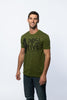 Men's Olive Green Positive Inception t-shirt
