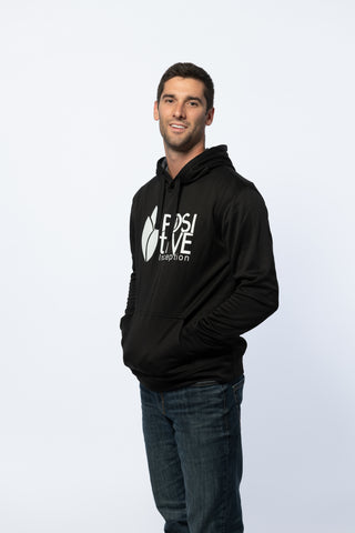 Black Mens Performance Positive Inception Hoodie