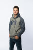 Heavy Weight Varsity Premium Grey and Navy Blue Positive Inception Hoodie
