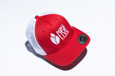 Positive Inception Red and White Hat