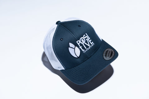 Positive Inception Navy Blue and White Hat
